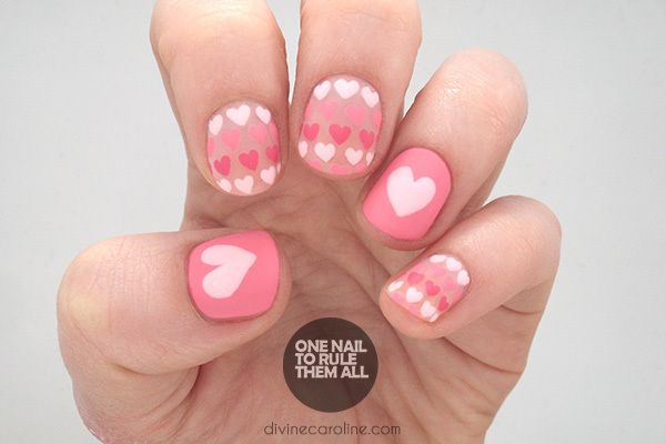 Gradient Heart Nails - Sweet Heart Nail Art To Fall In Love With More.com