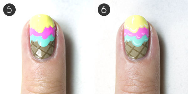 Ice Cream Nail Design Steps 5-6
