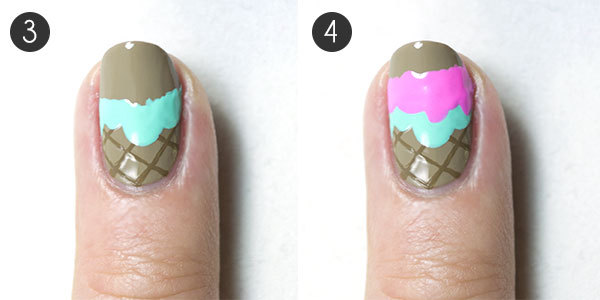 Ice Cream Nail Design Steps 3-4