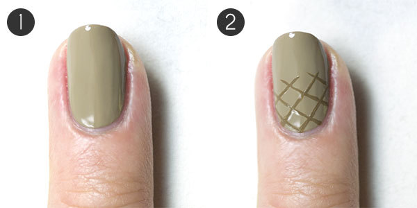Ice Cream Nail Design Steps 1-2