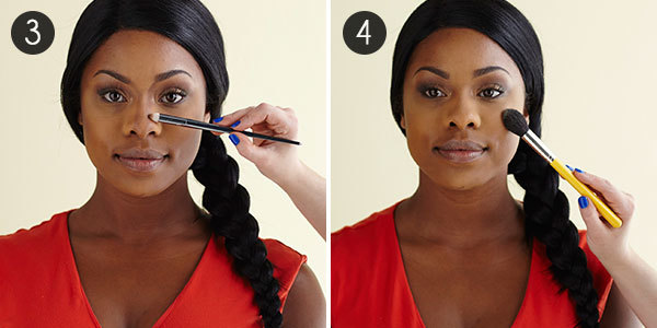 African American Cream Contour: Steps 3-4