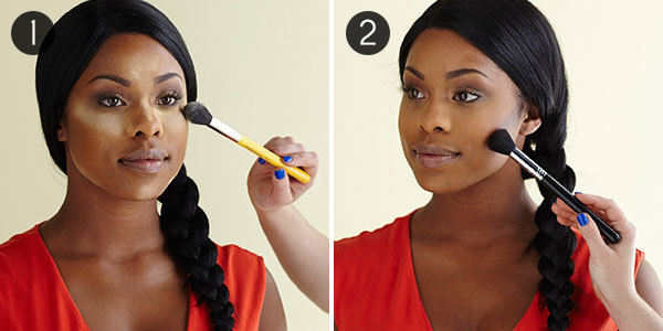 African American Cream Contour: Steps 1-2