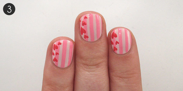 Stripe Hearts: Step 3