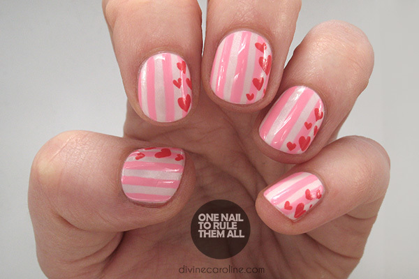 Try This Simple Striped Valentines Day Nail Art More