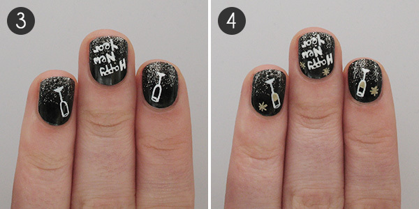A Tutorial To Toast Fun Nail Art For The New Year More