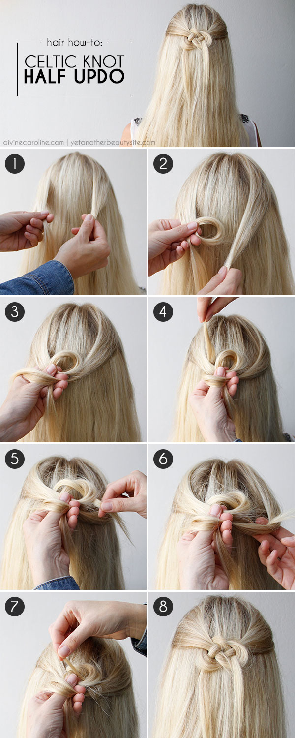 Hair How To Celtic Knot Half Updo More