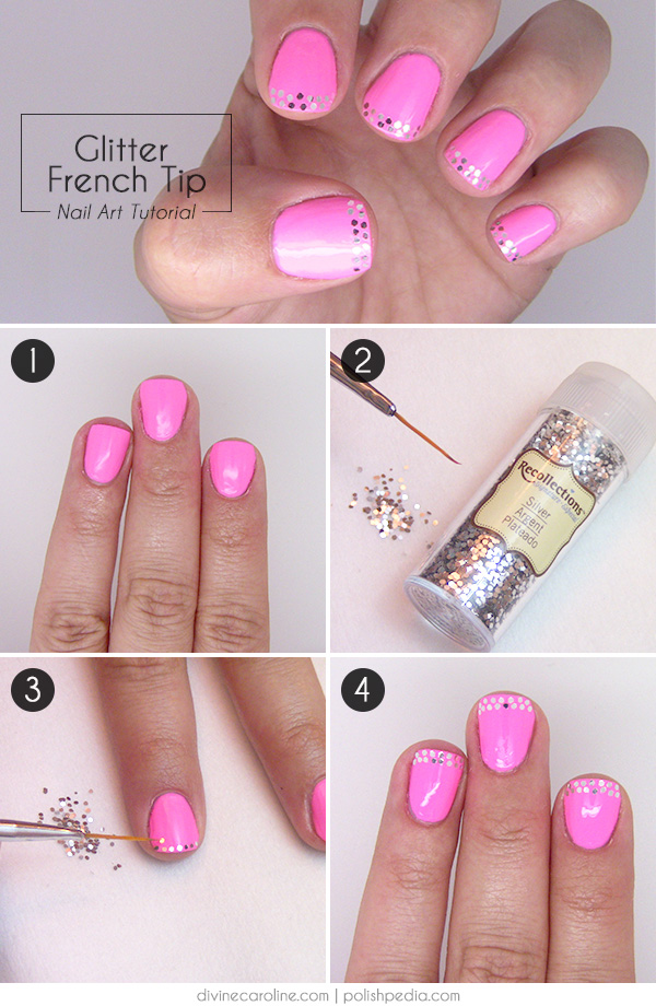 Glitter French Tip Nail Art Tutorial | more.com
