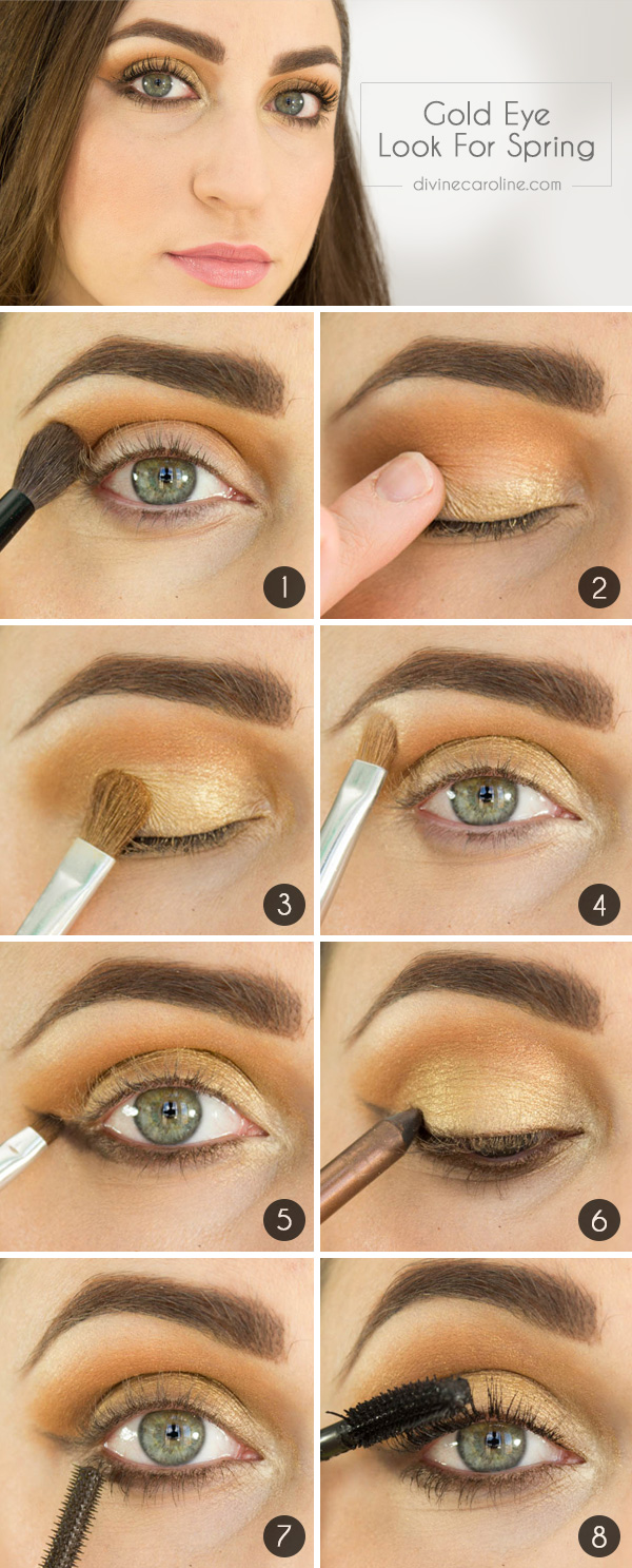 Gold Eyes How To Wear Metallic Makeup For Spring More