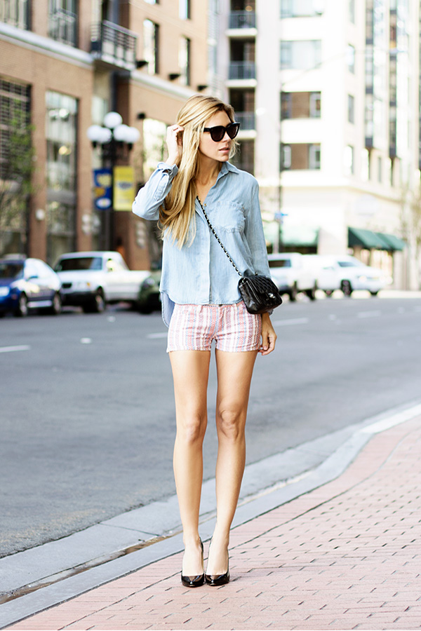 winter-to-spring outfit chambray
