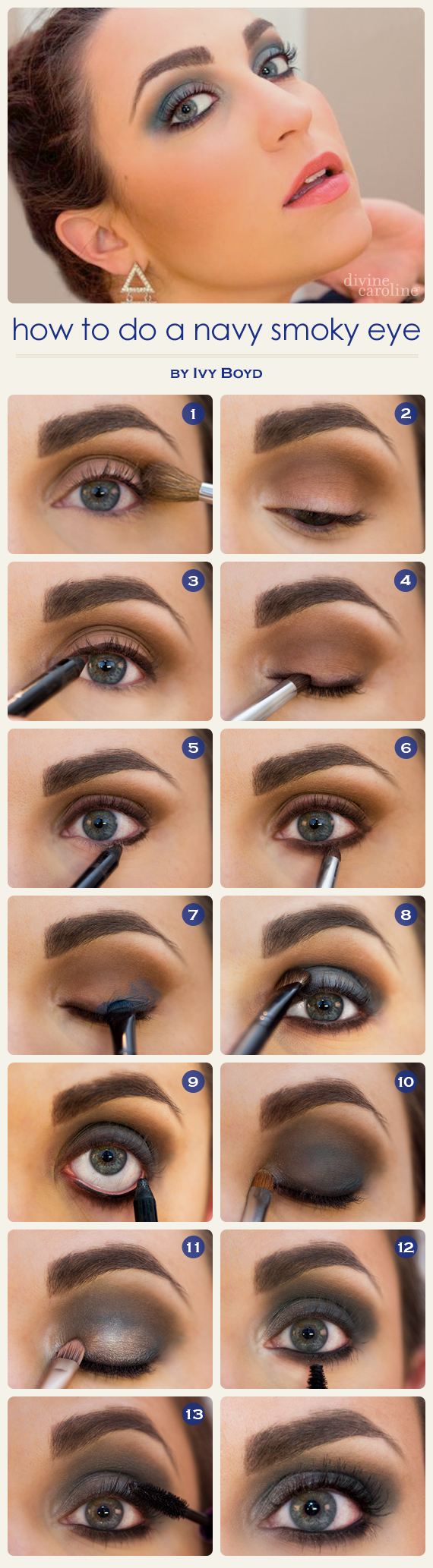 fall makeup trend: the navy smokey eye | more