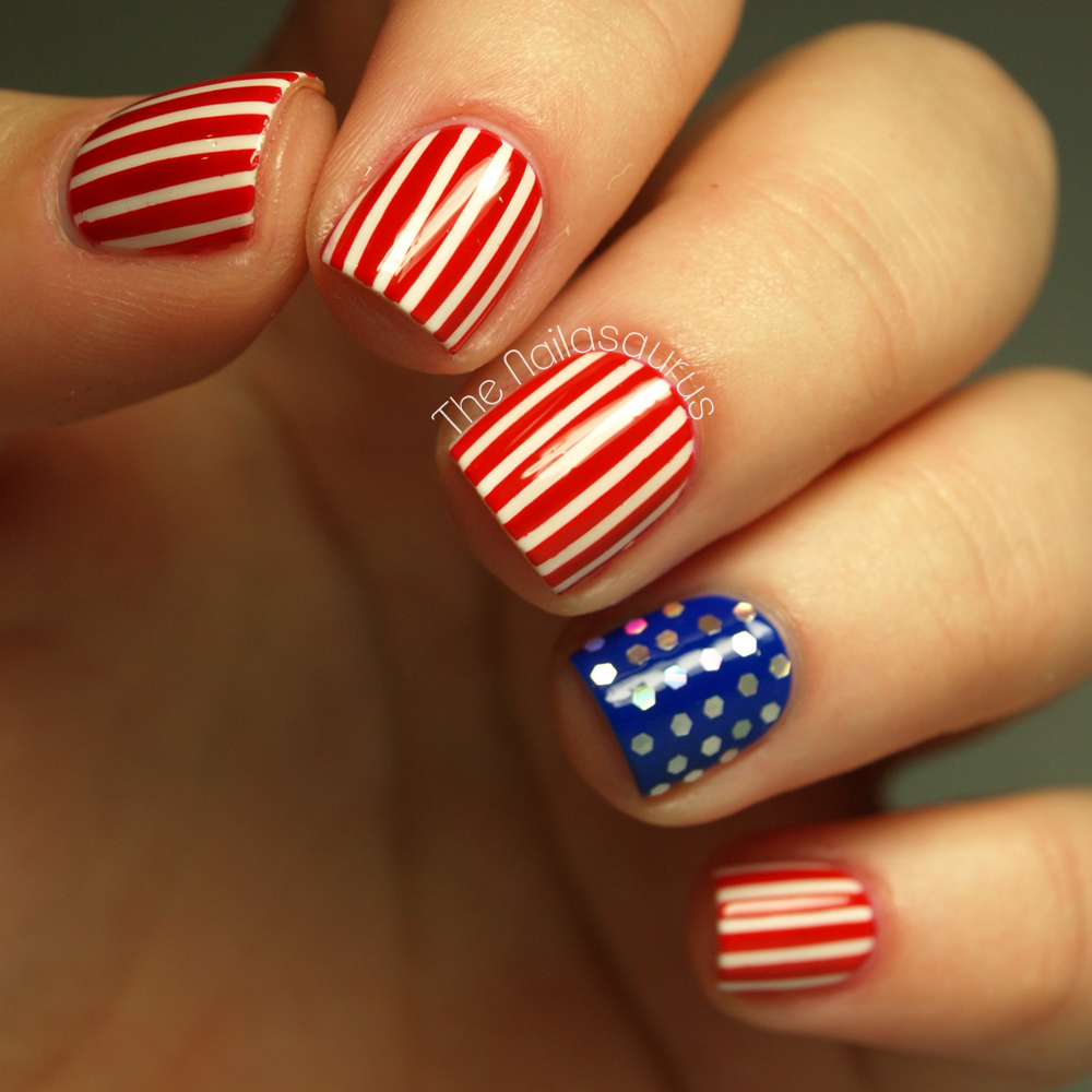 4th Of July Nails Stars And Stripes Nail Art More