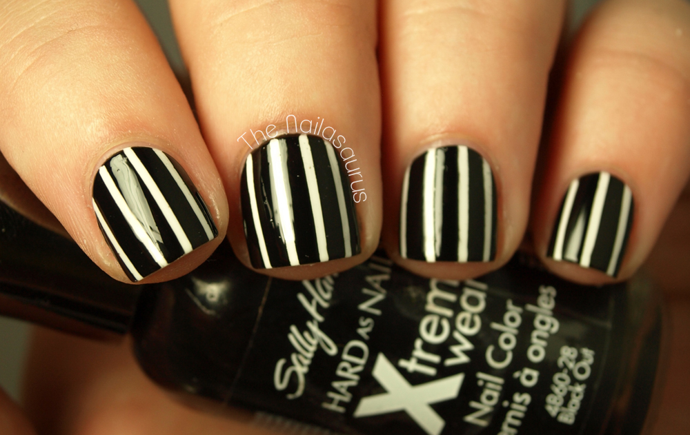 How To Create The Perfect Pinstriped Nail Design More