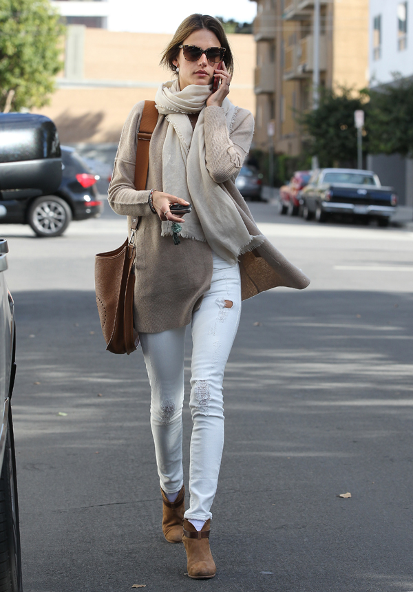 get the look alessandra ambrosio goes natural in neutrals