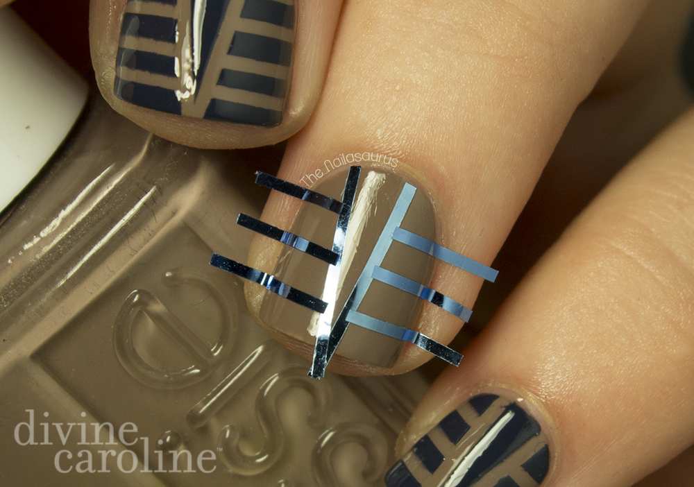 This Is How Your Striping Tape Arrangement Should Look Just Before You Paint Over It For More Nail Art