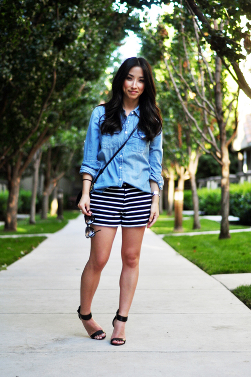 How to Style Striped Shorts
