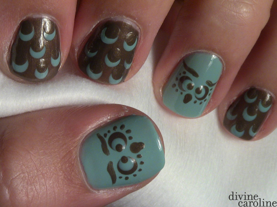 Owl Feathered Nail Art More