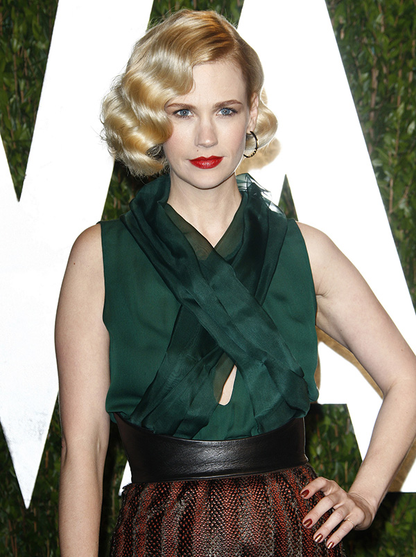 Holiday Hairstyle January Jones Glamorous Finger Waves More