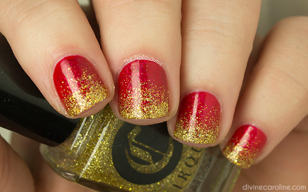 Glitter Gradient Merry Christmas Manicure More