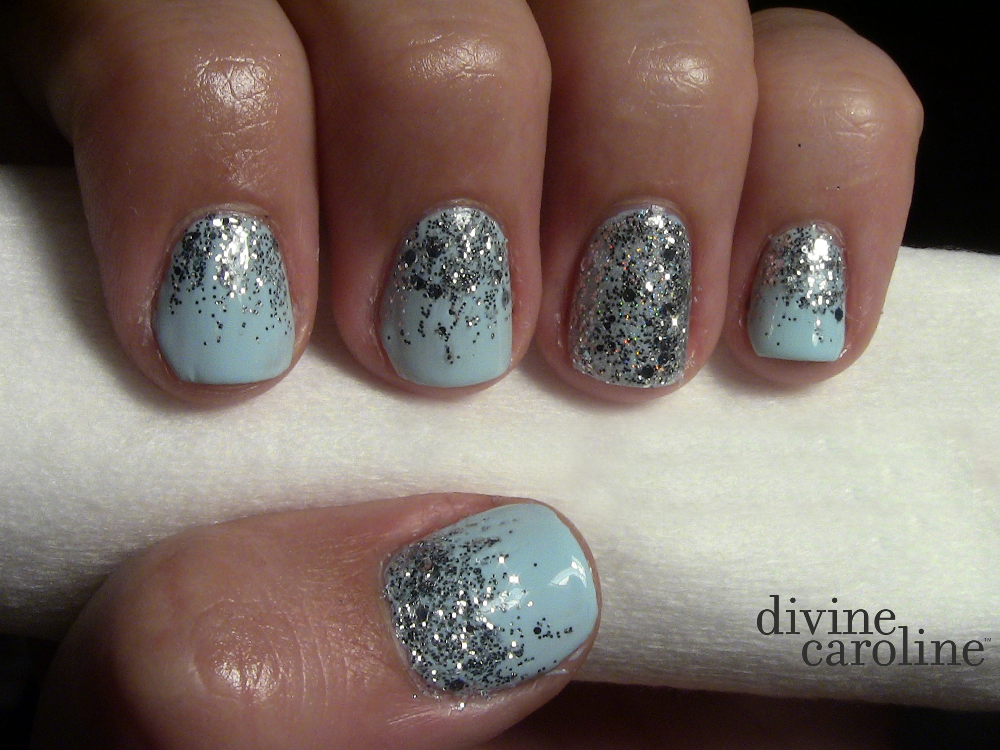 For This Design You Need A Basecoat Topcoat Polish Color And Glitter The Polishes I Used In Nail Art Are Orly Top Base Coat