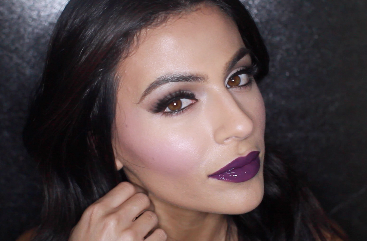Halloween inspired fall makeup more ive created a fall makeup look inspired by halloween it features all matte shadows glossy dark purple lips and an almost doll like set of berry cheeks baditri Choice Image