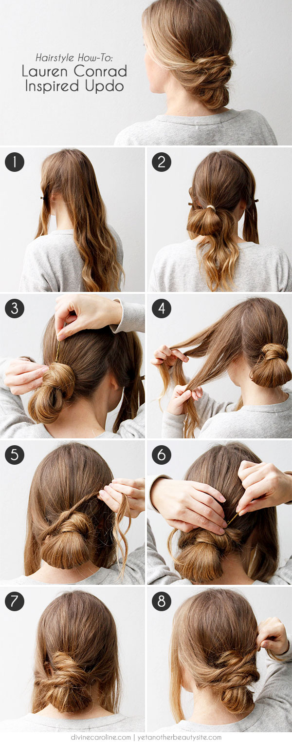 Easy Updo Inspired By Lauren Conrad More