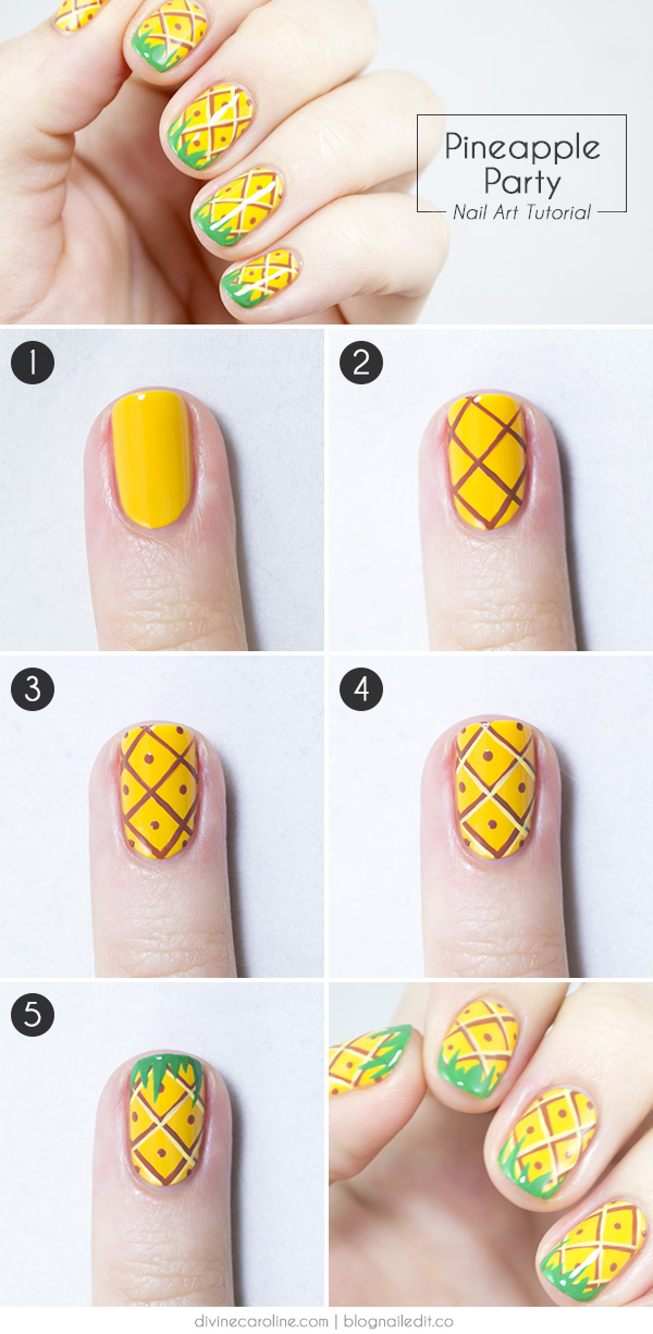 Summer Nails! Pineapple Party Nail Art | more.com