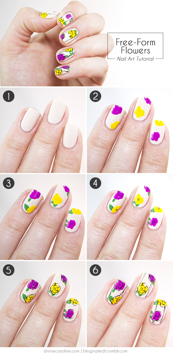 Freehand Fun: Floral Nail Art for Spring | more.com