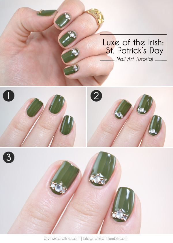 Luxe Of The Irish St Patricks Day Nail Art Tutorial More