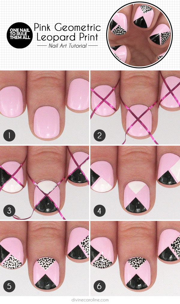 Nail Art Take A Walk On The Wild Side With Pink Geometric Leopard