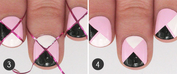 Nail Art Take A Walk On The Wild Side With Pink Geometric Leopard Spots