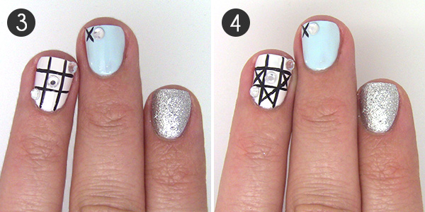 Nail art design game night meets mani with tic tac toe nail art design game night meets mani with tic tac toe inspiration prinsesfo Choice Image