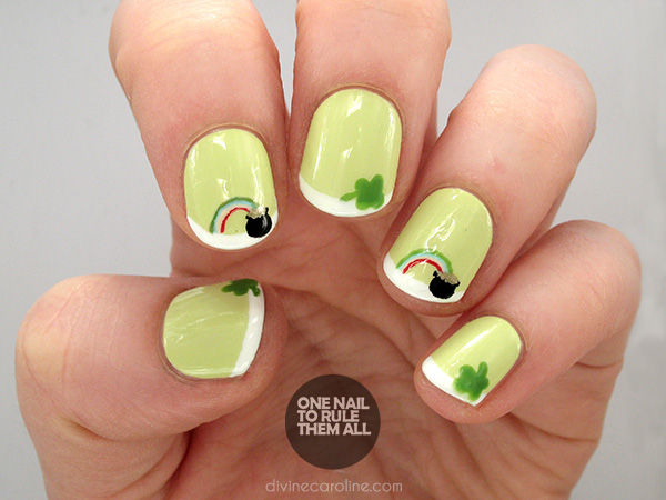 Lucky Us St Patricks Day Nail Designs To Show Off More