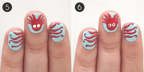 Octopus Nails: Steps 5-6