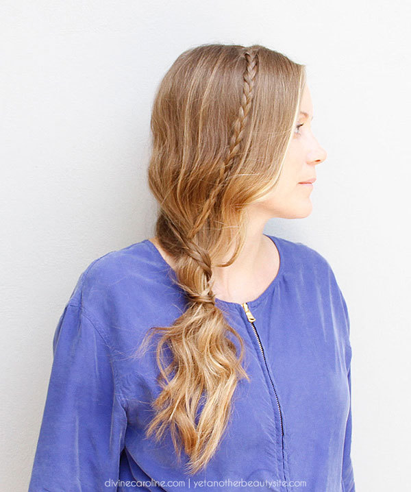 Side Ponytail with Micro Braids