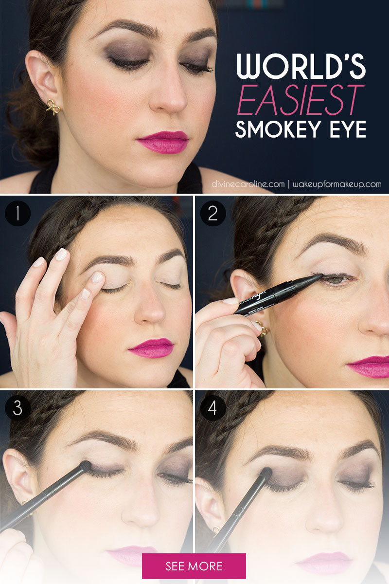 the world's easiest smokey eye tutorial (i promise) | more